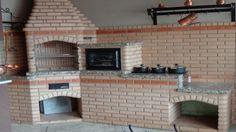 Resultado de imagem para churrasqueira e forno alvenaria