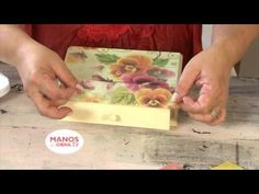 Como decorar plato de vidrio - Craquelado - Decoupage - - YouTube
