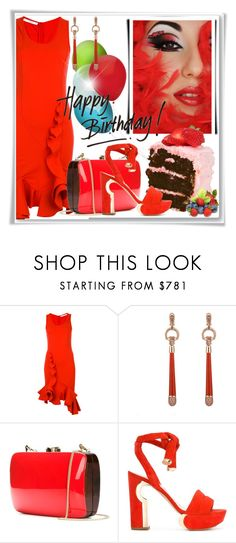 """""""Happy Birthday Brenda Joyce"""" by doozer ❤ liked on Polyvore featuring Givenchy, Gucci, Rocio and Nicholas Kirkwood"""