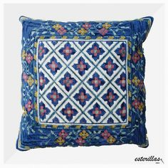Chile, Needlepoint, Decorative Pillows, Elsa, Needlework, Cross Stitch, Butterfly, Tapestry, Throw Pillows