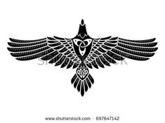 Raven Odin Norse Celtic Style Isolated Stock Vector (Royalty Free) 697647142 The Raven of Odin, In Norse, Celtic style, isolated on white, vector illustration Norse Tattoo, Celtic Tattoos, Viking Tattoos, Celtic Raven Tattoo, Sexy Tattoos, Body Art Tattoos, Sleeve Tattoos, Drawing Poses, Drawing Tips