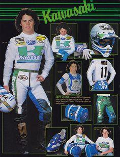 JT Racing 1982   Jeff Ward   Tony Blazier   Flickr Motocross Kit, Motocross Shirts, Marty Smith, Kawasaki Dirt Bikes, Dirt Bike Racing, Off Road Bikes, Vintage Motocross, Dirtbikes