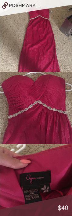 Aqua gown size 0 Aqua gown size 0, no trading no modeling Aqua Dresses Maxi