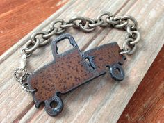 Rustic Metal Pickup Truck Bracelet by DuctTapeAndDenim on Etsy | Great gift for a country girl | Gift Guide for Women | Gifts for Women Use the coupon code PIN10 to get 10% off your whole order on www.DuctTapeAndDenim.etsy.com
