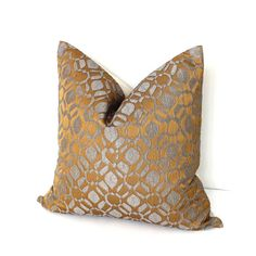 Gold Pillows  Throw Pillow Cover  Grey Pillows  by couchdwellers