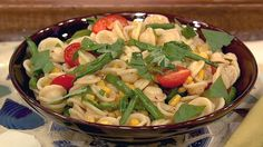 the chew | Recipe  | Carla Hall's Summer Pasta..Can't wait to try this! I can pick a lot of the ingredients from my garden.