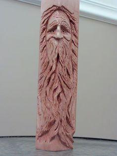 Wood Spirit Hand Carved Basswood
