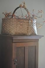 antique basket - love, love, love this with the bittersweet (my fav)