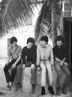 1965 - The Beatles in Help! film (backstage photo).