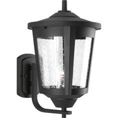 Shop Progress Lighting East Haven 15.125-in H Black Outdoor Wall Light at Lowes.com