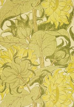 The Cestrefeld Wallpaper by C.F.A Voysey (1857-1941). Block-printed paper. England, 1895.