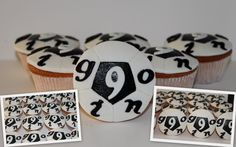 Voetbal cupcakes.