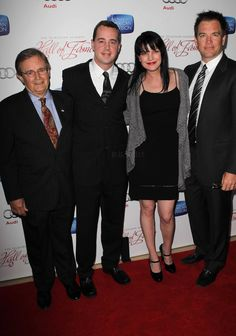 David McCallum, Sean Murray, Pauley Perrette, & Michael Weatherly in Television Academy's 22nd Annual Hall of Fame