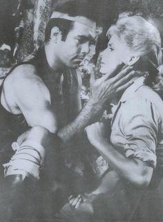 Adam and the legendary White Buffalo Woman. From The Savage (Bonanza)