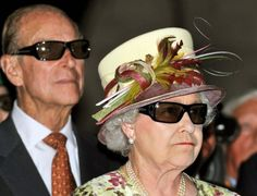 'Celebrating 'Badass Day' ...we match our outfits whenever we can...' (My caption) -- Her Royal Hilariousness: 30 Funny Pictures Of The Queen (PHOTOS)