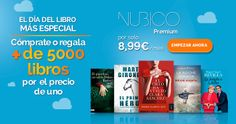 El día del libro más especial: Cómprate o regala más de 5.000 #libros por el precio de uno con #Nubico Premium por 8,99 euros