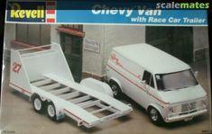 Model Cars Kits, Kit Cars, Car Kits, Plastic Model Kits, Plastic Models, Chevy Van, Car Trailer, Vintage Models, Model Trains