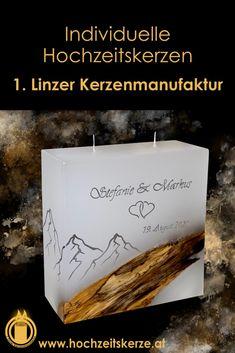 Ich fertige einzigartige Hochzeitskerzen nach individuellen Wünschen an. Ein Unikat für jedes Brautpaar. 100%ige Handarbeit aus Oberösterreich. Sie können nicht nur die Verzierung, sondern auch die Form der Kerze selbst bestimmen, da wir auch die Rohlinge nach Kundenwunsch selbst herstellen. Kerze mit Holz, Mantelkerze, Kerze mit Mineralien, Achat, Meteorit, Hochzeit selbstgemacht Standesamt Kirche Hochzeitsbrauch Geschenk Dekoration Kerze deko Trauung Trauspruch Kerzenshop