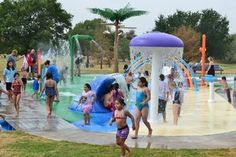 W. J. Thomas Splash Park, 1955 N. Perry Road, Carrollton, TX 75006, Hours  Open daily 9 am to 8 pm, while temperatures remain above 80 degrees.    There is no charge or fee to use this facility. New restrooms and shade structures were installed in 2012.  This beautiful site features mature shade trees, wooden deck with picnic tables, plenty of parking, rolling green lawns and a playground nestled in a quiet neighborhood. New features include spray equipment and new shade structures.