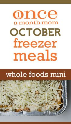 Freezer cooking menu for those focused on #wholefoods or #realfood - 5 recipes, 10 easy meals