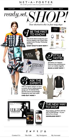 Net-A-Porter Welcome Email (Perks)