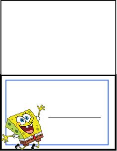 7 best sponge bob images free printables print box printable box rh pinterest com