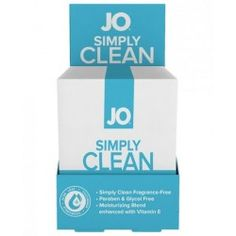 Jo Personal Cleansing Wipes Singles Simply Clean Single Wipe New and improved! JO Personal Cleansing Wipes boast a formula that is both gentle and versatile. Ideal for intimate use prior and post intimacy as well as daily hygiene needs like make-up removal. Single wipe packages. From System JO. $1.49