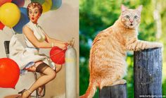 Kočičí modelky vs. dívky z plakátů 50. let | Creativelife.cz – Blog o kreativním životě