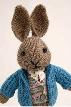 Knitting Pattern For Peter Rabbit Jumper : 1000+ images about diy knit easter on Pinterest Bunnies, Free knitting and ...