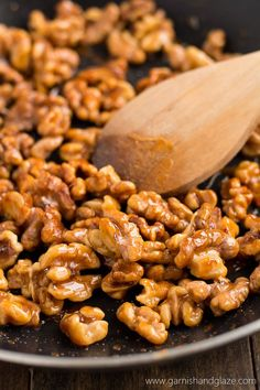 Honey Glazed Walnuts are the perfect sweet and crunchy addition to any salad.