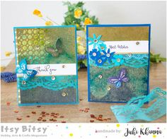 Hello everyone, it's Juhi . Today I am sharing a couple of cards I made using my favorite Gold Alcohol Splash inks and C halk paint . Hello Everyone, Chalk Paint, Handmade Cards, Card Making, Backgrounds, Arts And Crafts, Alcohol, Texture, Projects