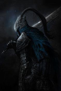красивые картинки,art,арт,Knight Artorias,Damien Mammoliti,Artorias The Abysswalker,DS персонажи,Dark Souls,фэндомы,DS art