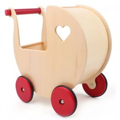 Hippychick Moover natural wooden doll's stroller