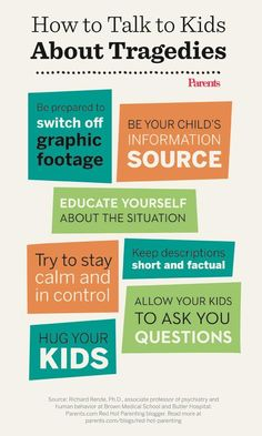 How to talk to kids about tragedies