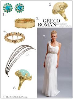 5ebcf5caaa the perfect vision for the roman wedding Grecian Gown, Grecian Wedding,  Greek Wedding,