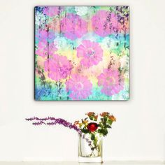 Large Abstract Canvas Print, Abstract Flowers, Floral Canvas Large Wall Art Pink by trolleyla on Etsy https://www.etsy.com/listing/184070728/large-abstract-canvas-print-abstract