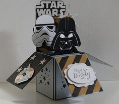 HANDMADE STAR WARS HAPPY BIRTHDAY, 3D pop up card PRODUCT DESCRIPTION: Types: Regular: As shown in the pictures Customize: You can add YOUR AGE, and YOUR NAME (Up to 7 characters); (Check the last picture) Condition: New My cards are unique and made with the best craft brands