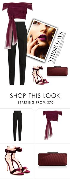 """Vino"" by susy-v ❤ liked on Polyvore featuring Yves Saint Laurent, River Island, Gianvito Rossi, Sondra Roberts and susyset"