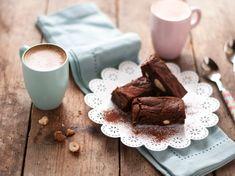 Brownies végétaliens coco-pralinés, chocolat 70% et fleur de sel