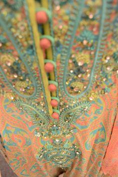 nomi ansari: colorful prints and embroidery Pakistani Wedding Dresses, Pakistani Outfits, Indian Dresses, Indian Outfits, Bridal Dresses, Wedding Wear, Wedding Suits, Satin Duchesse, Indian Textiles