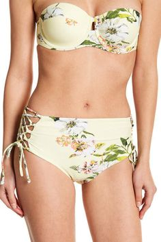 9e42853823 High Waist Lace-Up Bikini Bottoms