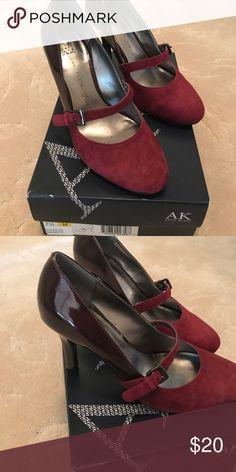 Heels Anne Klein wine color heels Anne Klein Shoes Heels