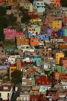 Guanajuato, Mexico. Color dots.