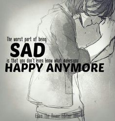 sadness, anime quote, and life image