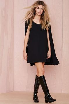Nasty Gal Catherine Cape Dress | Shop Clothes at Nasty Gal