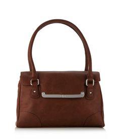 Debenhams The Collection Tan bar flapover shoulder bag