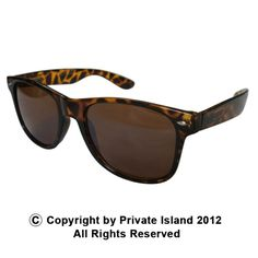 Private Island Party  - Tortoise Brown Wayfarer Style Sunglasses 1060, $1.55 - $2.99     Another Classic style of Wayfarer is the tortoise brown style.    This sweet pair of shades has been around forever and has stood the test of time as a timeless fashion icon.    Our Wayfarer style party sunglasses provide UV400 level protection and offer style that never goes out of fashion.    BUY IN BULK AND SAVE!