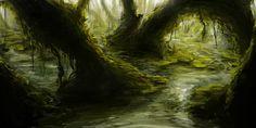 SPEEDPAINT - Swamp by ~tgw-Raptor on deviantART