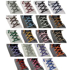 Fashion Round Shoelace Shoe Lace Sneakers Boot Athletic String Candy Colors Free Shipping 85cm
