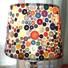 Come riciclare i bottoni - Lampada